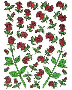 Klistremerker Rose