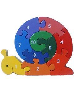 SRI Toys - Nummer Snegle - Klossepuslespill