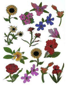 Klistremerker Blomster