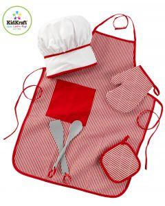 KidKraft Kokk Utstyrsett - Rødt