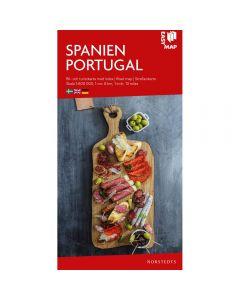 Landskart og bilkart Spania og Portugal. Spanien Portugal EasyMap