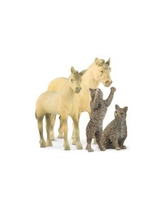 Gråtass Bondegårds dyr hest og katt