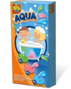 Ses aqua badevannsfarge 3 farger X 3 per farge