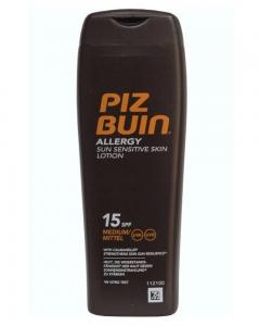 Allergivennlig og vanntett solkrem fra Piz Buin som ikke inneholder parabener.