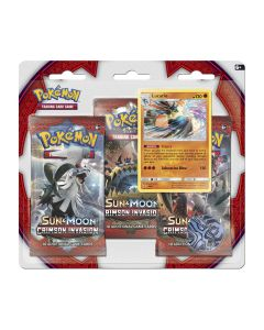 Pokémon TCG Crimson Invasion 3-pack Blister Lucario